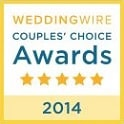 WeddingWire Couple's Choice award in 2014