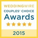 WeddingWire Couple's Choice award in 2015