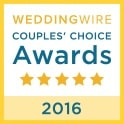 WeddingWire Couple's Choice award in 2016