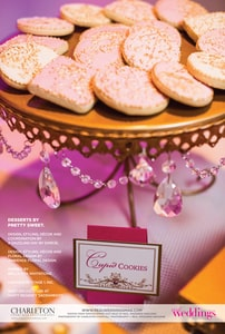 Pink cookies with gold decoration