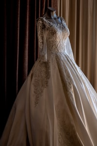 Bridal gown for wedding ceremony