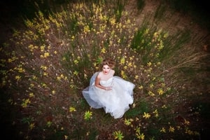Forests have meadows like the one this bride found