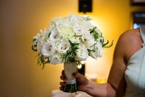 Wedding bouquet for Urban Chic wedding in Sacramento, CA