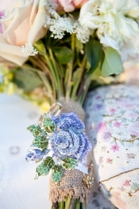 Bridal bouquet brooch
