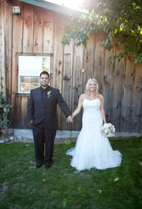 Photo of bride and groom at Brookshire Gardens, El Dorado, CA