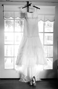Wedding dress before the bride wears it