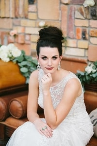 Bride's makeup by artist Lea Beuhler
