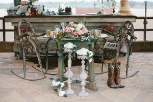Details - rustic accents - for wedding reception bar area; Murieta Inn and Spa, Rancho Murieta, CA